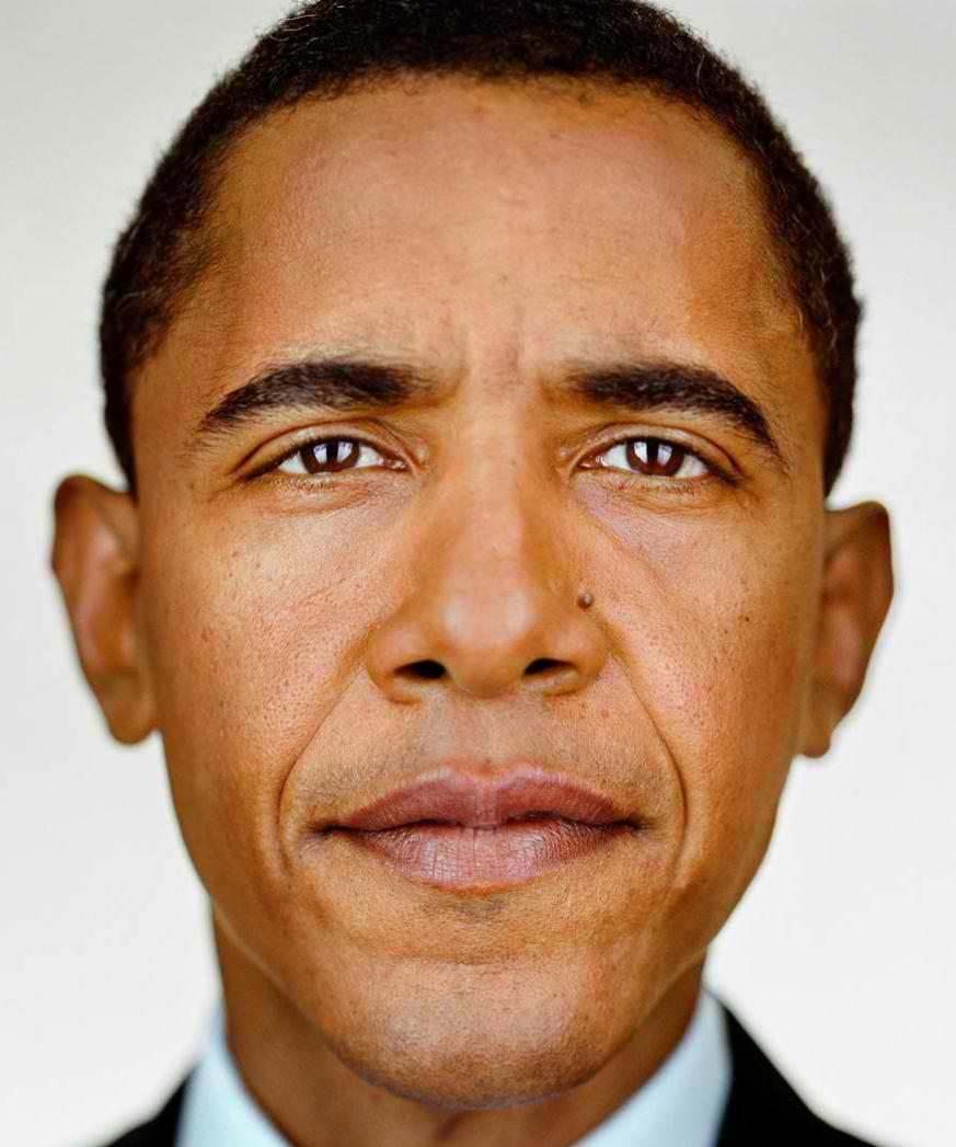 Martin schoeller barack obama portrait up close and personal